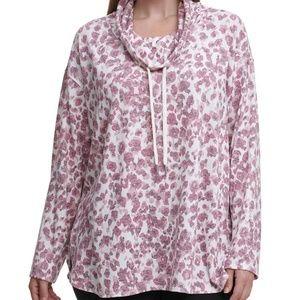 NEW Calvin Klein | Gray Leopard Print Sweater